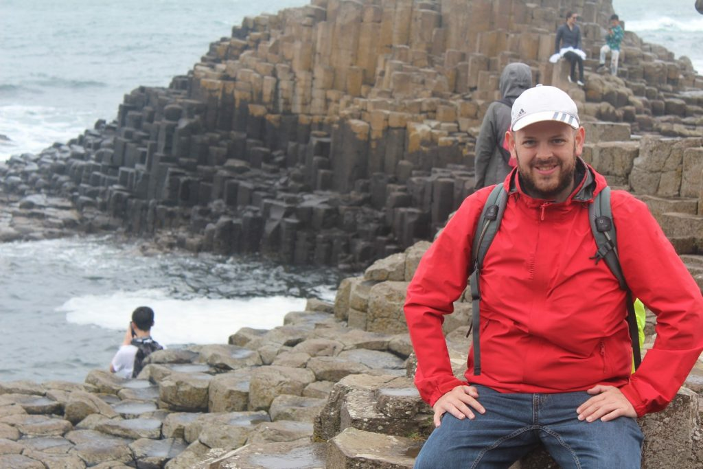 Giant's Causeway (and some climbing Tourists)